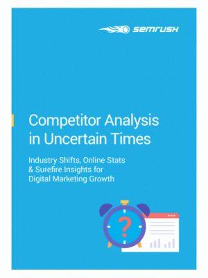 e-book concurrentie analyse semrush